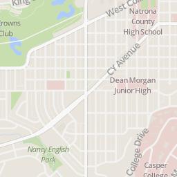 Casper College Map on