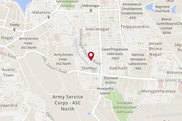 Indira Nagar Bangalore Map Address of Wats Ur Scoop?, Indiranagar   Wats Ur Scoop